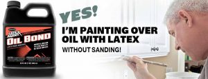 Latex paint on top of oil
