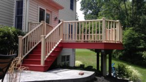 Beutiful deck stained