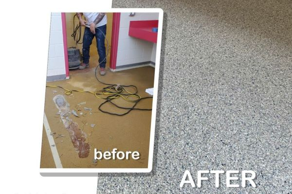 Epoxy Flooring Project for DeSales University in Center Valley, PA